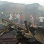 Just In: Fire Razes Popular Katangowa Market In Lagos