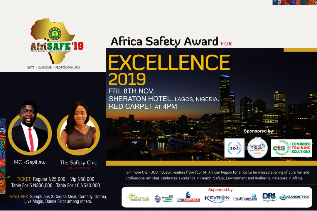 Expectations Heighten As AfriSAFE Award Night Approaches