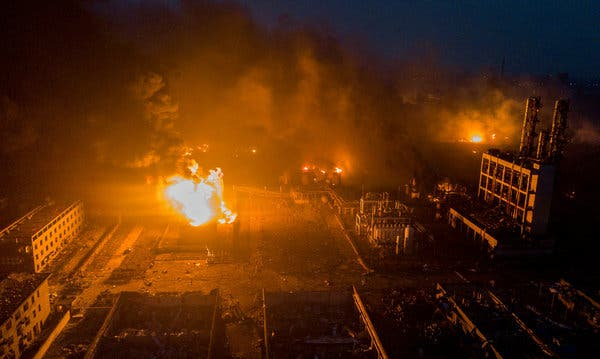 Fire Razes Chemical Factory, Leaves Several Schools Closed