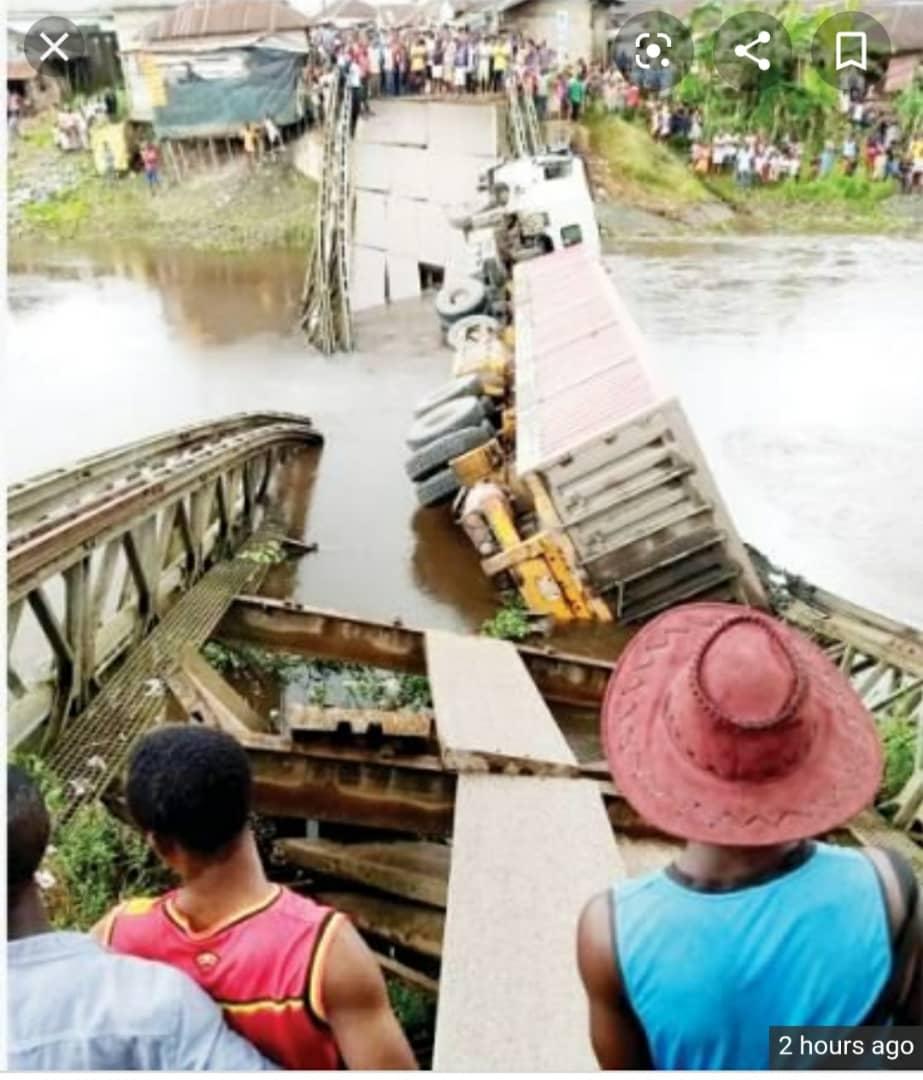 Elebele Bridge Collapse In Bayelsa
