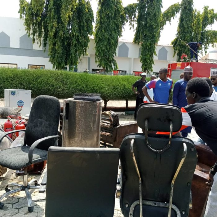 Just In: Fire Razes Niger Government House