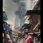 Breaking: Fire Guts Popular Lagos Market