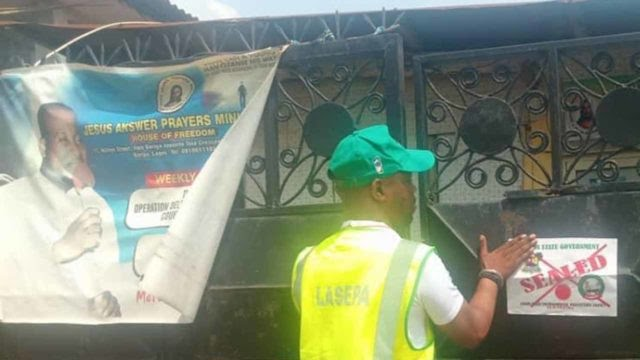 LASEPA Seals Off Churches Over Noise Pollution