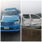 FRSC Patrol Vehicle Driving Against Traffic Crashes Into An Oncoming SON Vehicle