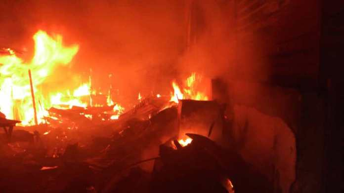 Just In: Fire Guts  Anambra Automobiles Spare Parts Market