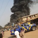 Just In: Fire Guts Building In Ijaiye