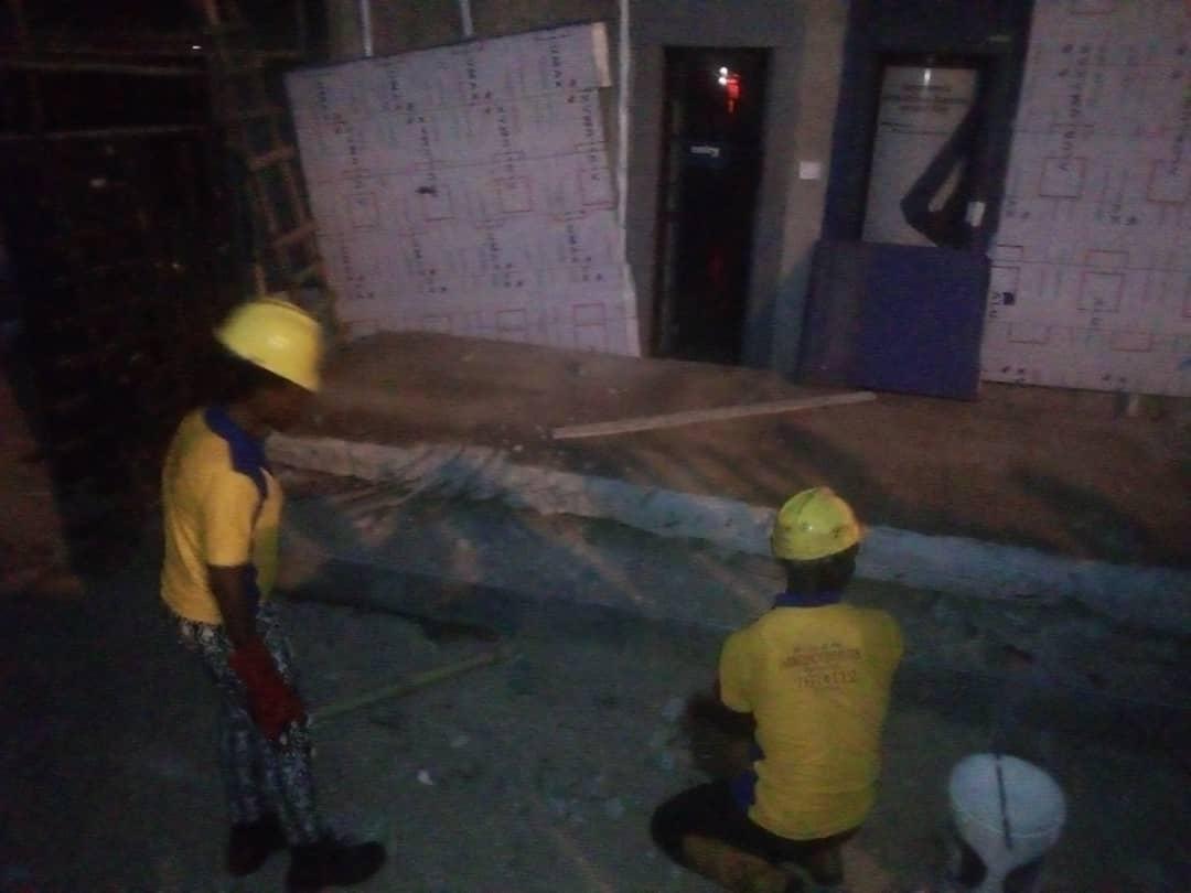 Just In: One Dies As Keystone Bank Building Collapses In Lagos