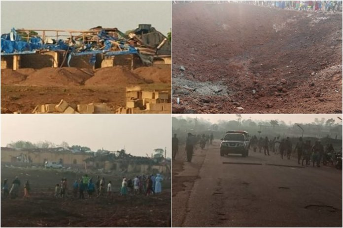 JUST IN: Road Divides Into Two, Buildings Destroyed As Explosion Hits Akure