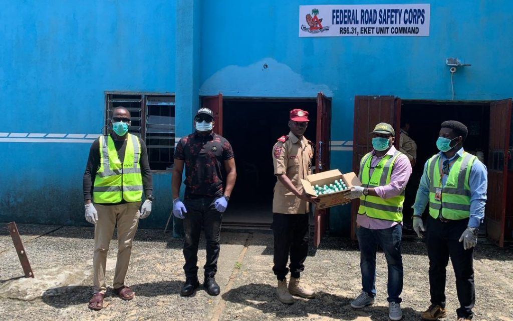 NISafety Produces Hand Sanitizers, , Distributes Free In Akwa Ibom
