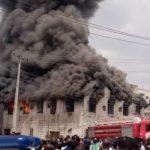 Fire Razes Popular Dugbe Market In Oyo state , Ibadan