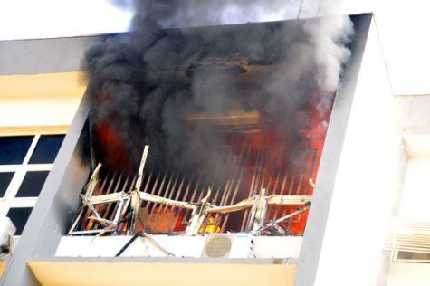 INEC Headquaters Gutted By Fire