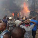 BREAKING: One Dead As Fire Razes Moniya Motor Park, Oyo State
