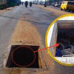 Road Danger: Manholes Turn Death Holes On Lagos Roads