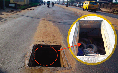 Danger: Manholes Turn Death Holes On Lagos Roads