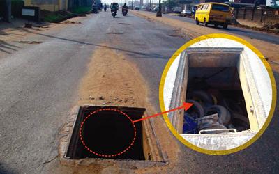 Danger: Manholes Turn Death Holes On Lagos Roads