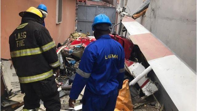 Helicopter crash in Opebi, Lagos