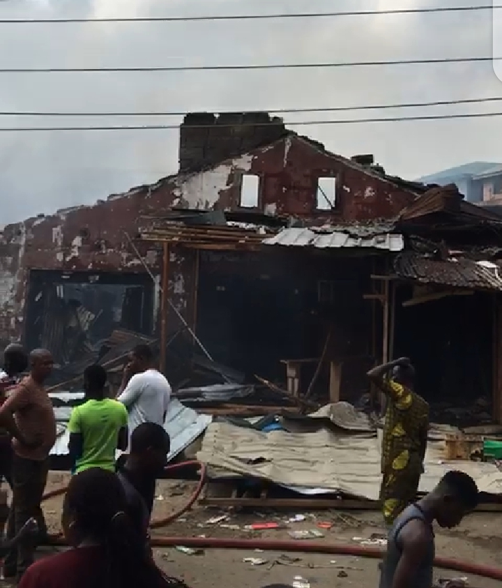 Fire outbreak in Mushin