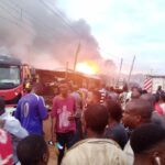 Baruwa Gas Explosion: Eight Dead, 25 Shops Burnt (PHOTO)