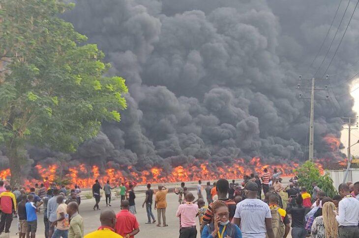 Fuel Tanker Explodes At Oshodi-Apapa Expressway