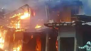 Fire Incident at Oja Oba Ikirun, Osun State