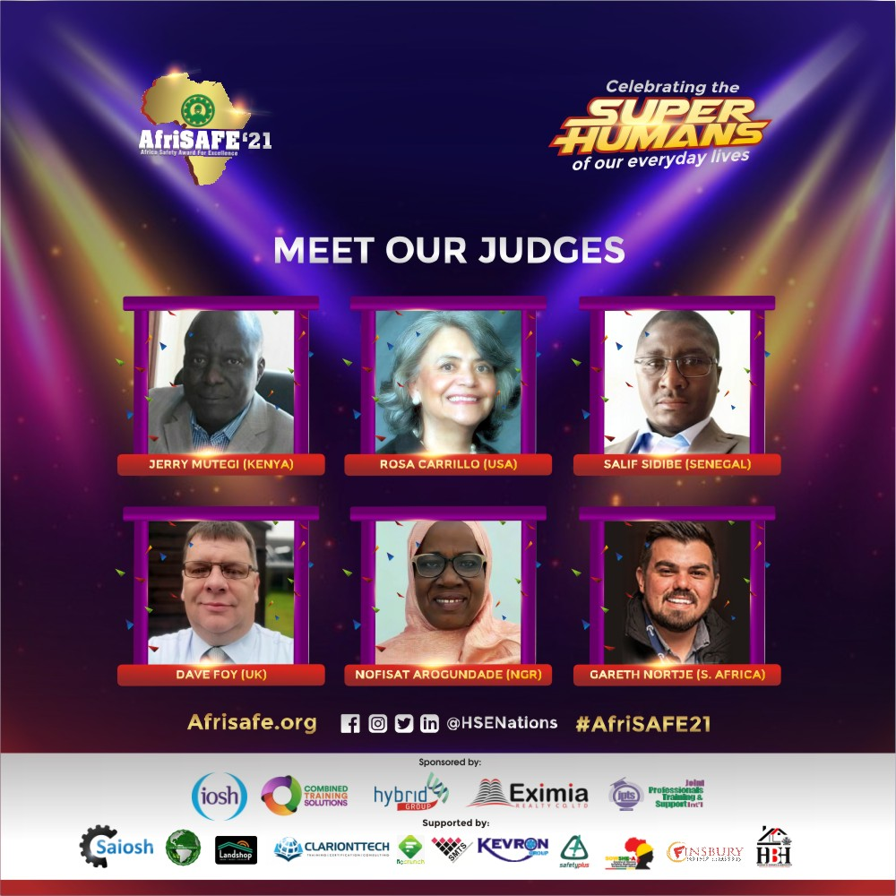 Judges Announced for Africa Safety Awards 2021